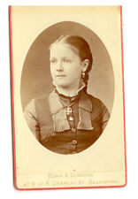 CDV YOUNG GIRL W/ EARRING AND CROSS