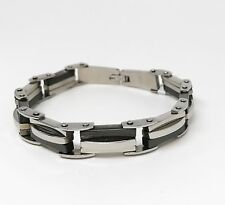 Two Color Stainless Steel Man's Bracelet