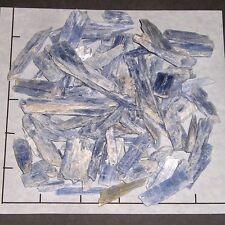 """KYANITE BLUE Blades Pieces 3/4-2"""" natural 1/2 lb bulk stones"""