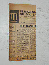 FRANCE FOOTBALL OFFICIEL HEBDOMADAIRE FFF N°454 30/11 1954