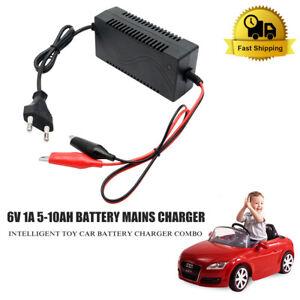 AGM Akku Ladegerät BLEI GEL 6V 5-10Ah Batterie für Kinderfahrzeug Elektroauto