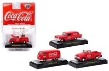 """COCA-COLA"" RELEASE 2, SET OF 3 CARS 1/64 DIECAST MODELS M2 MACHINES 52500-RW02"