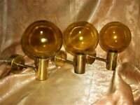 Sconces Mid Century Modern brass bronze glass vintage Scandinavian Art Deco