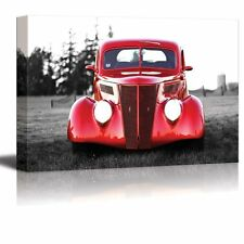"""Wall26 - Canvas Prints Wall Art - Classic Red Vintage Car - 24"""" x 36"""""""