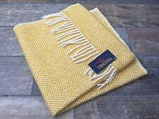 Tweedmill Textiles British PURA LANA GIALLO Alveare Crema BABY CARROZZINA COPERTA Pet