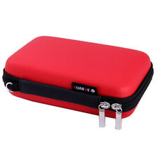 Electronic Accessories Cable USB Drive Organizer Bag Travel Insert Case - Red