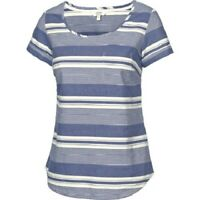 Fat Face - Women's - Bramley Stripe Shell T-Shirt - Blue - Size 10 - BNWT