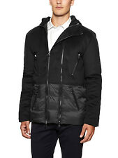 PIERRE BALMAIN CONTRAST WOOL PARKA SIZE 46 (S) 100% AUTHENTIC