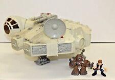Playskool Star Wars Millennium Falcon Playset Galactic Heroes Han Chewbacca