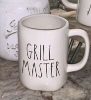 "New RAE DUNN Artisan Collection LL ""GRILL MASTER"" Double Sided Mug By Magenta"