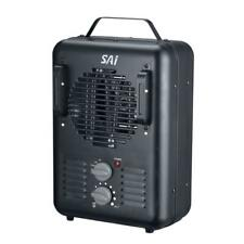 SAI 1,500-Walt Utility Milkhouse Fan-Forced Portable Heater with Thermostat