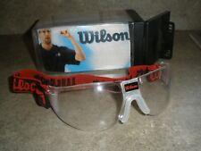 Wilson Omni Protective Eyewear | Black & Red