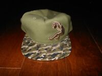 NEW REEBOK SHAQ ATTAQ DUNK Olive/Camo Baseball Cap Hat One Size Adjustable