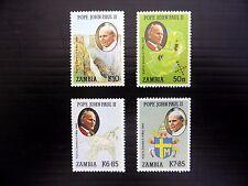 ZAMBIA 1989 Pope John Paul Visit (4) SG575/8 U/M NEW PRICE FP8410