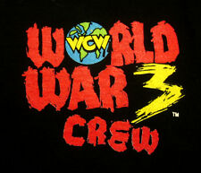 WCW World War 3 crew T shirt XL pro wrestling 1997 tee Scott Hall & Ric Flair