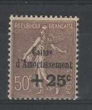 FRANCOBOLLI 1930 FRANCIA 25 + 50 CASSA AMMORTAMENTO MLH Z/4363
