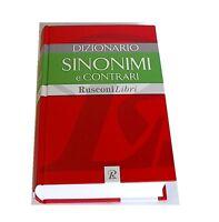 DIZIONARIO SINONIMI E CONTRARI aa.vv RUSCONI EDITORE