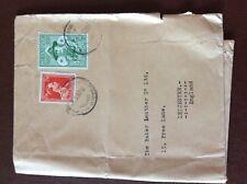 b1u ephemera stamped franked envelope belgium 1957