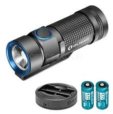 Olight S1 500 Lumen Rechargeable Small EDC LED Flashlight, 2x RCR123A & Charger