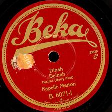 KAPELLE MERTON (=DAJOS BÉLA)  Dinah / Sevilla    Schellackplatte   78rpm   S7169