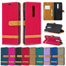 Jeans Wallet Leather Flip Case Cover For Xiaomi Redmi Note 9S Note 8 K30 7A 8 8A