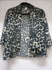 Simply Irresistible Petites Animal Print Sweater Jacket, open Front, Fly Away, s