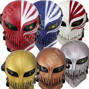 BLEACH Mask Kurosaki ichigo Mask Cosplay PVC Colourful Anime Games Hallowmas