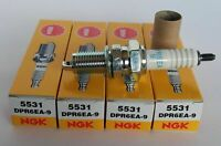 NEW QTY 4 NGK - 5531 - Spark Plugs, DPR6EA-9 HONDA SUZUKI TRIUMPH KAWASAKI