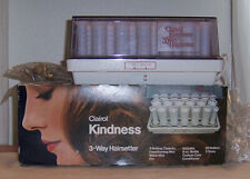 Clairol Kindness 3-Way Hairsetter Hot Rollers & Clips, w/ Box