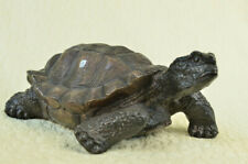 Bronze Sculpture Collector Numbered Edition Turtle Backyard Artwork Figure Gift