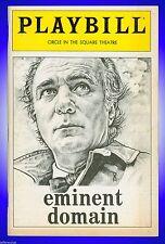 Playbill + Eminent Domain + Philip Bosco, Betty Miller, John Vickery, Paul Colli