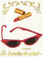Bright Red Ladies Shoe, Sunglass, Purse Lipstick ONLY $9 - Wallpaper Border 405