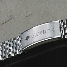 Vintage Zodiac watch beads NSA bracelet steel Swiss 1960s/70s 18mm 19mm or 20mm