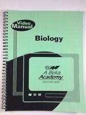A Beka Biology Video Manual 10th Grade Lesson Plans