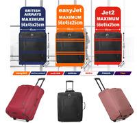 easyJet Jet2 BA Maximum 56x45x25 Lightweight Hand Cabin Luggage Trolley Bag, 60L