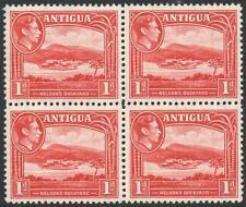 ANTIGUA-1938-51 1d Scarlet Block of 4 Sg 99 UNMOUNTED MINT V38046