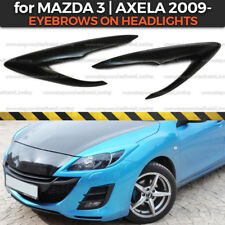 Eyelids Eyebrows Headlights Covers for Mazda 3 BL Axela 2009-2012 plastic ABS