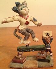 Boyds Bears And Friends Figurine Canadian Cat Trainee Mouse Coach