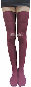 AM Landen Cotton Knit Thigh-High Boot Socks US Size 2-6