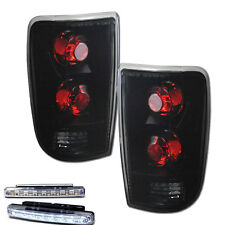 1995-2000 CHEVY BLAZER REAR BRAKE TAIL LIGHTS SMOKED LENS+LED BUMPER RUNNING DRL
