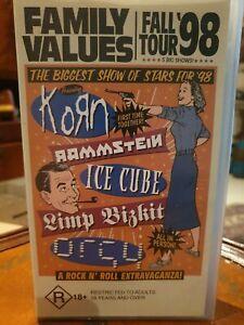 Family Values - Fall Tour 1998 Korn Rammstein Ice Cube Limp Bizkit Orgy VHS