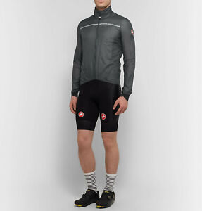 Castelli Superleggera Men's Cycling Jacket Gray Size Large NEW