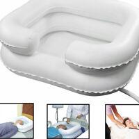 PVC Gonfiabile Capelli Shampoo Bacino W/Tubo Di Scarico Per Anziani Disabili