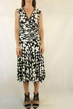 GEORGE Black Ivory Spot Jersey Dress Size 8