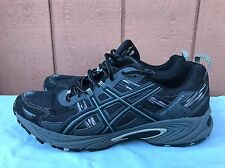 EUC ASICS Men's GEL Venture 5 US 12 Running Shoes Black / Onyx / Charcoal T5N3N