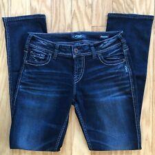 Silver Jeans Elyse Slim Straight Sz 27/32L - Super Cute - Excellent - Denimotion