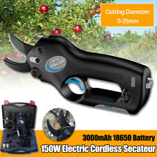 12V Cordless Rechargeable Electric Pruning Shears Secateur Branch Cutter Scissor