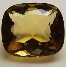 9.41 CT CUSHION CUT LOOSE FACETED NATURAL YELLOW CITRINE (CIT1-22)