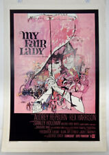 MY FAIR LADY - 1 SHEET LINEN MOVIE POSTER - 1964 - AUDREY HEPBURN - REX HARRISON