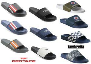Mens Top Brand Slip On Beach Summer pool Shower Mule Flip Flops sandals Size UK